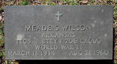 WILSON  (VETERAN WWII), MEADE S - Johnson County, Arkansas | MEADE S WILSON  (VETERAN WWII) - Arkansas Gravestone Photos