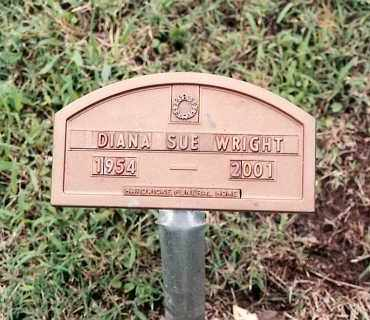 WRIGHT, DIANA SUE - Johnson County, Arkansas | DIANA SUE WRIGHT - Arkansas Gravestone Photos