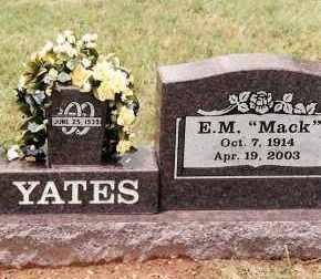 "YATES, E. M. ""MACK"" - Johnson County, Arkansas | E. M. ""MACK"" YATES - Arkansas Gravestone Photos"