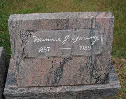 YOUNG, MINNIE J. - Johnson County, Arkansas | MINNIE J. YOUNG - Arkansas Gravestone Photos