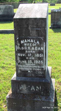 AGAN, MAHALA - Lafayette County, Arkansas | MAHALA AGAN - Arkansas Gravestone Photos
