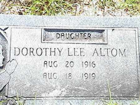 ALTOM, DOROTHY LEE - Lafayette County, Arkansas | DOROTHY LEE ALTOM - Arkansas Gravestone Photos