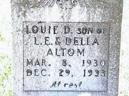 ALTOM, LOUIE D. - Lafayette County, Arkansas | LOUIE D. ALTOM - Arkansas Gravestone Photos