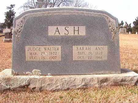 ASH, JUDGE WALTER - Lafayette County, Arkansas | JUDGE WALTER ASH - Arkansas Gravestone Photos