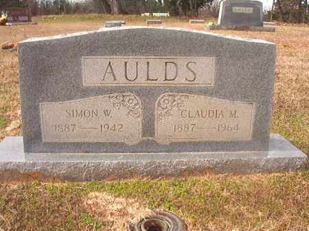 AULDS, SIMON W - Lafayette County, Arkansas | SIMON W AULDS - Arkansas Gravestone Photos