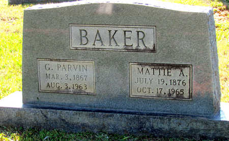 BAKER, MATTIE A - Lafayette County, Arkansas | MATTIE A BAKER - Arkansas Gravestone Photos