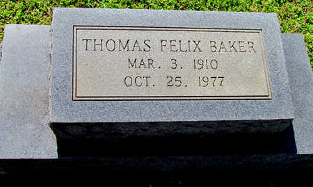 BAKER, THOMAS FELIX - Lafayette County, Arkansas | THOMAS FELIX BAKER - Arkansas Gravestone Photos