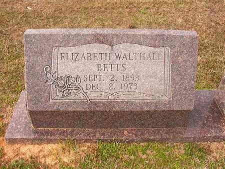 WALTHALL BETTS, ELIZABETH - Lafayette County, Arkansas | ELIZABETH WALTHALL BETTS - Arkansas Gravestone Photos