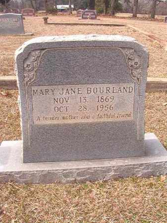 BOURLAND, MARY JANE - Lafayette County, Arkansas | MARY JANE BOURLAND - Arkansas Gravestone Photos