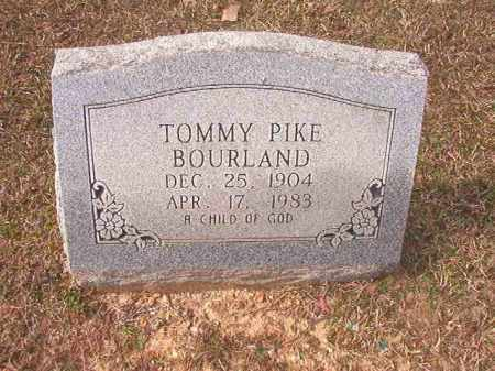 BOURLAND, TOMMY PIKE - Lafayette County, Arkansas | TOMMY PIKE BOURLAND - Arkansas Gravestone Photos