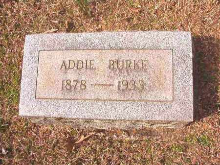 BURKE, ADDIE - Lafayette County, Arkansas | ADDIE BURKE - Arkansas Gravestone Photos