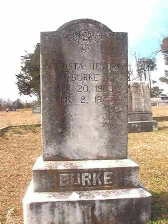 HENDRIX BURKE, AUGUSTA - Lafayette County, Arkansas | AUGUSTA HENDRIX BURKE - Arkansas Gravestone Photos
