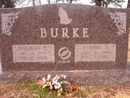 BURKE, JOHNNIE H - Lafayette County, Arkansas | JOHNNIE H BURKE - Arkansas Gravestone Photos