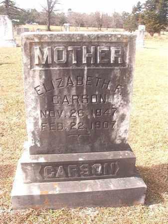 CARSON, ELIZABETH F - Lafayette County, Arkansas | ELIZABETH F CARSON - Arkansas Gravestone Photos