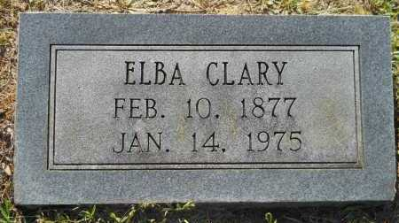 CLARY, ELBA - Lafayette County, Arkansas | ELBA CLARY - Arkansas Gravestone Photos