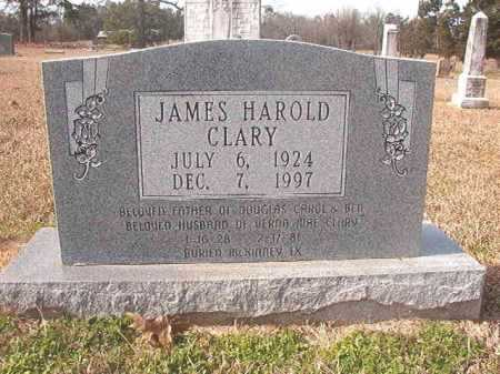 CLARY, JAMES HAROLD - Lafayette County, Arkansas | JAMES HAROLD CLARY - Arkansas Gravestone Photos