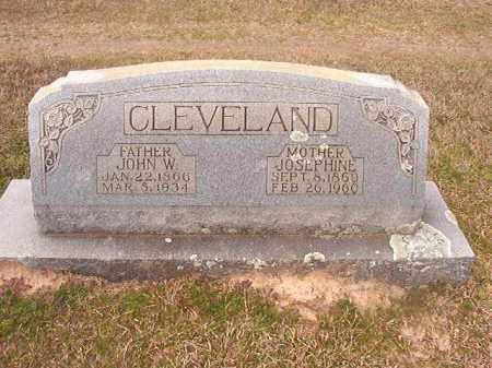 CLEVELAND, JOHN W - Lafayette County, Arkansas | JOHN W CLEVELAND - Arkansas Gravestone Photos