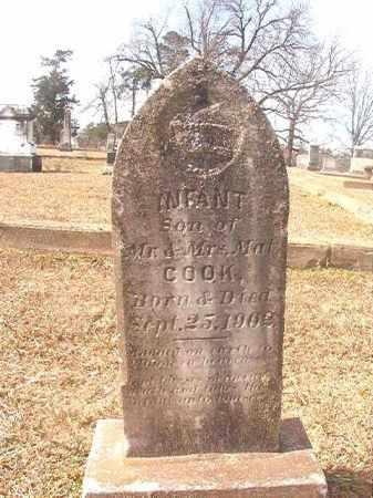 COOK, INFANT SON - Lafayette County, Arkansas | INFANT SON COOK - Arkansas Gravestone Photos