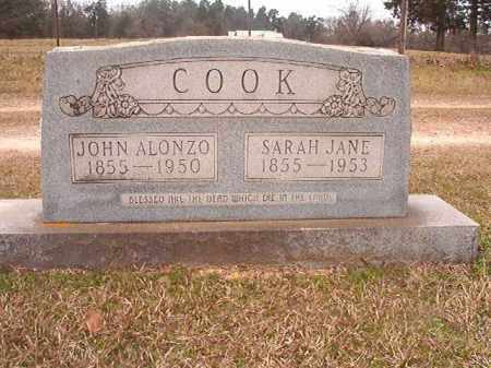 COOK, JOHN ALONZO - Lafayette County, Arkansas | JOHN ALONZO COOK - Arkansas Gravestone Photos