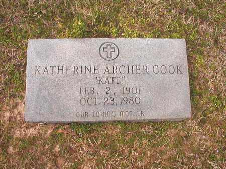 ARCHER COOK, KATHERINE - Lafayette County, Arkansas | KATHERINE ARCHER COOK - Arkansas Gravestone Photos