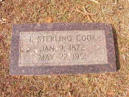 COOK, T STERLING - Lafayette County, Arkansas | T STERLING COOK - Arkansas Gravestone Photos
