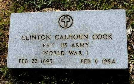 COOK (VETERAN WWI), CLINTON CALHOUN - Lafayette County, Arkansas | CLINTON CALHOUN COOK (VETERAN WWI) - Arkansas Gravestone Photos