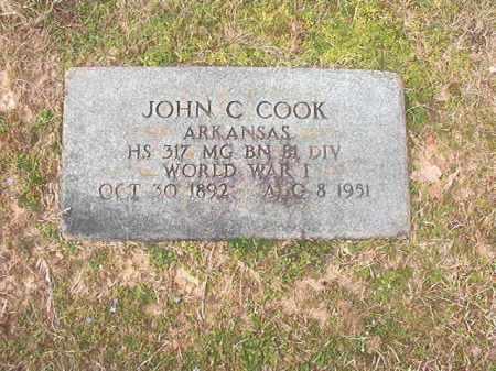 COOK (VETERAN WWI), JOHN C - Lafayette County, Arkansas | JOHN C COOK (VETERAN WWI) - Arkansas Gravestone Photos