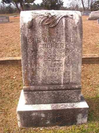 COOPER, CLERINDA L - Lafayette County, Arkansas | CLERINDA L COOPER - Arkansas Gravestone Photos
