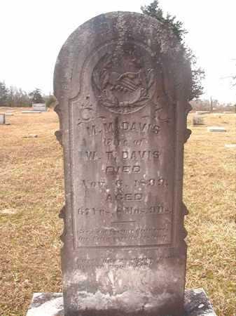 DAVIS, M M - Lafayette County, Arkansas | M M DAVIS - Arkansas Gravestone Photos