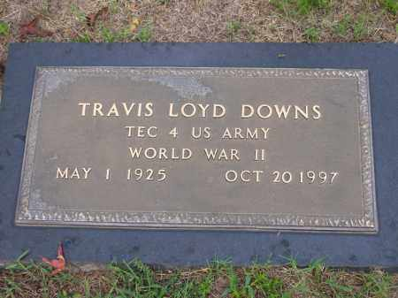 DOWNS (VETERAN WWII), TRAVIS LOYD - Lafayette County, Arkansas | TRAVIS LOYD DOWNS (VETERAN WWII) - Arkansas Gravestone Photos