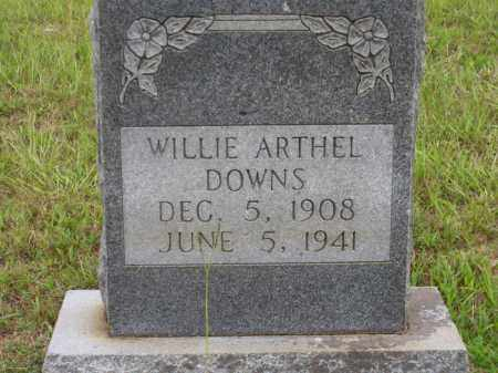 DOWNS, WILLIE ARTHEL - Lafayette County, Arkansas | WILLIE ARTHEL DOWNS - Arkansas Gravestone Photos