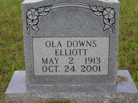 DOWNS ELLIOTT, OLA - Lafayette County, Arkansas | OLA DOWNS ELLIOTT - Arkansas Gravestone Photos