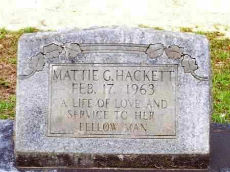 HACKETT, MATTIE G. - Lafayette County, Arkansas | MATTIE G. HACKETT - Arkansas Gravestone Photos