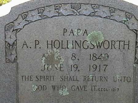 HOLLINGSWORTH, A. P. - Lafayette County, Arkansas | A. P. HOLLINGSWORTH - Arkansas Gravestone Photos
