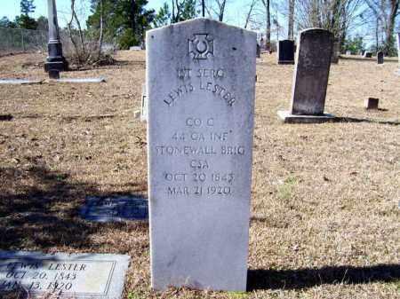LESTER (VETERAN CSA), LEWIS - Lafayette County, Arkansas | LEWIS LESTER (VETERAN CSA) - Arkansas Gravestone Photos