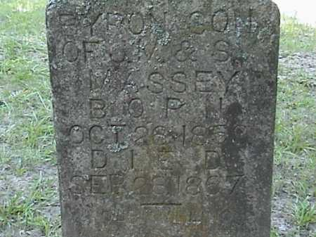 MASSEY, BYRON (CLOSE UP) - Lafayette County, Arkansas | BYRON (CLOSE UP) MASSEY - Arkansas Gravestone Photos