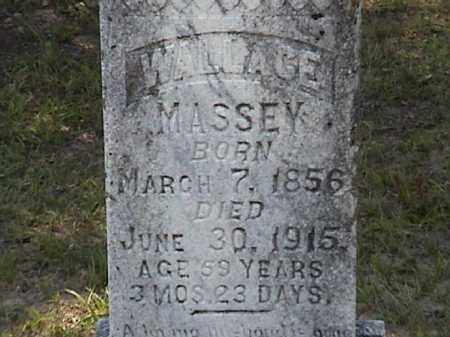 MASSEY, JAMES WALLACE (CLOSE UP) - Lafayette County, Arkansas | JAMES WALLACE (CLOSE UP) MASSEY - Arkansas Gravestone Photos