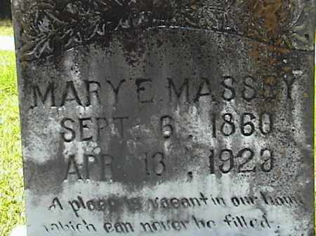 HOLCOMB MASSEY, MARY ELIZABETH (CLOSE UP) - Lafayette County, Arkansas | MARY ELIZABETH (CLOSE UP) HOLCOMB MASSEY - Arkansas Gravestone Photos