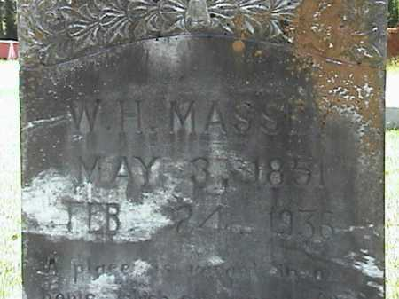 MASSEY, WILLIAM HENRY (CLOSE UP) - Lafayette County, Arkansas | WILLIAM HENRY (CLOSE UP) MASSEY - Arkansas Gravestone Photos