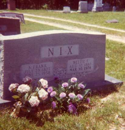 NIX, NETTIE F. - Lafayette County, Arkansas | NETTIE F. NIX - Arkansas Gravestone Photos