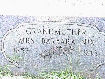 NIX, BARBARA - Lafayette County, Arkansas | BARBARA NIX - Arkansas Gravestone Photos