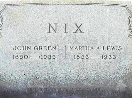 NIX, JOHN GREEN - Lafayette County, Arkansas | JOHN GREEN NIX - Arkansas Gravestone Photos