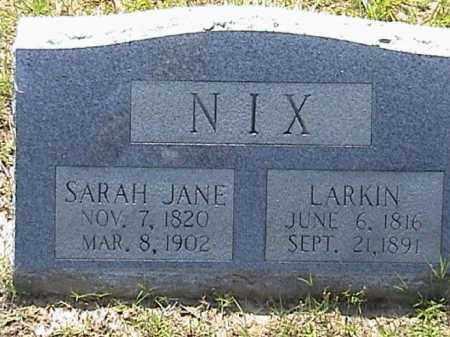 NIX, SARAH JANE - Lafayette County, Arkansas | SARAH JANE NIX - Arkansas Gravestone Photos