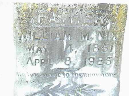 NIX, WILLIAM M. (CLOSE UP) - Lafayette County, Arkansas | WILLIAM M. (CLOSE UP) NIX - Arkansas Gravestone Photos