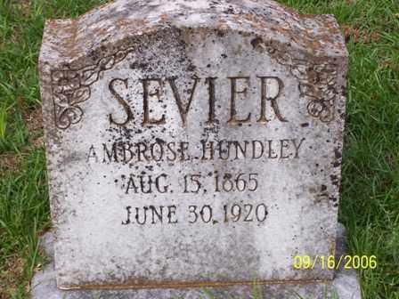 SEVIER, AMBROSE HUNDLEY - Lafayette County, Arkansas | AMBROSE HUNDLEY SEVIER - Arkansas Gravestone Photos