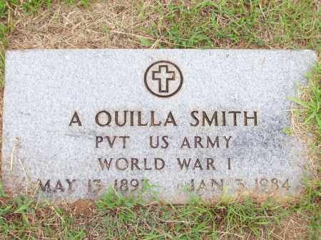 SMITH (VETERAN WWI), A QUILLA - Lafayette County, Arkansas | A QUILLA SMITH (VETERAN WWI) - Arkansas Gravestone Photos