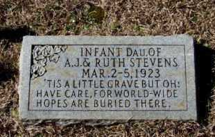 STEVENS, INFANT DAUGHTER - Lafayette County, Arkansas | INFANT DAUGHTER STEVENS - Arkansas Gravestone Photos