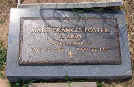 FOSTER (VETERAN WWII), MARY FRANCES - Lawrence County, Arkansas | MARY FRANCES FOSTER (VETERAN WWII) - Arkansas Gravestone Photos