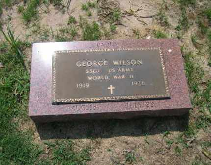 WILSON (VETERAN WWII), GEORGE - Lawrence County, Arkansas | GEORGE WILSON (VETERAN WWII) - Arkansas Gravestone Photos