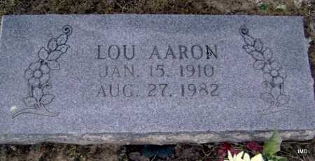 AARON, LOU - Lawrence County, Arkansas | LOU AARON - Arkansas Gravestone Photos